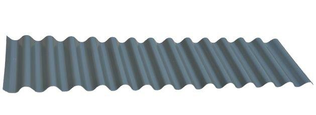7/8 Corrugated in Zinc Metallic